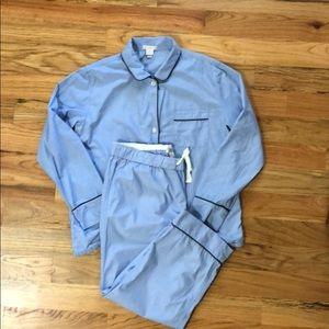 J.Crew women's pajamas. Medium. Hydrangea color.